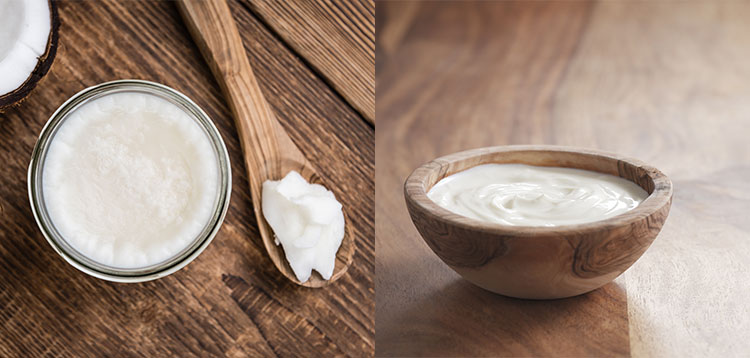 Coconut oil and yoghurt