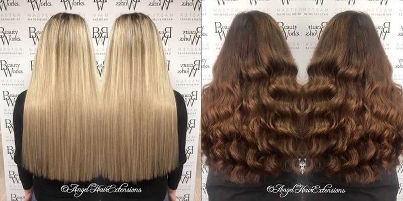 angel hair extensions fitting
