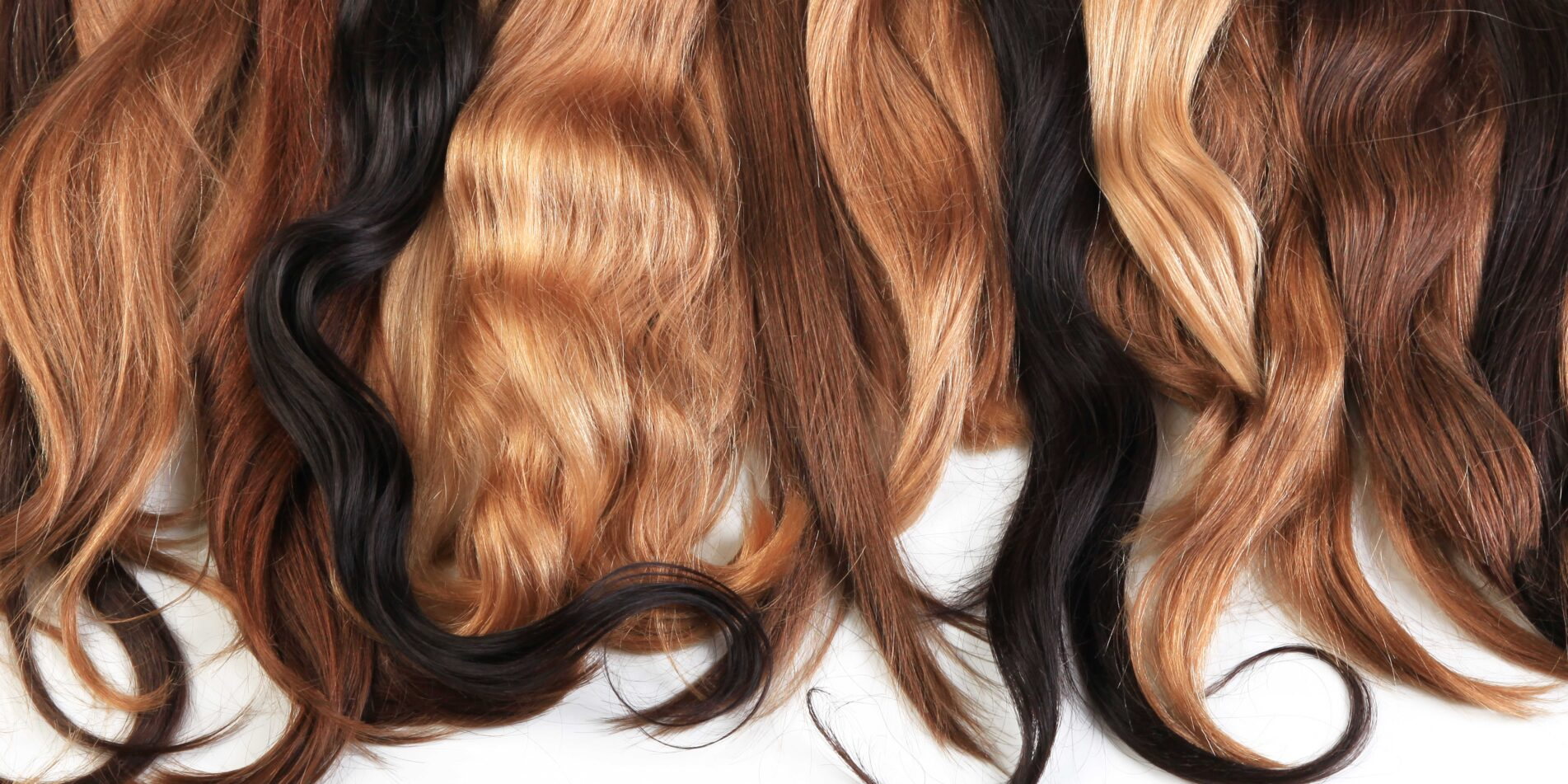 mix of hair extensions