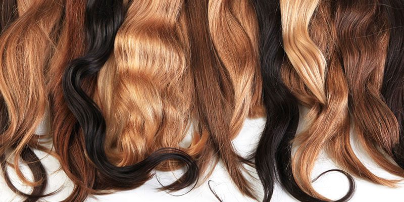 Shades of hair extensions